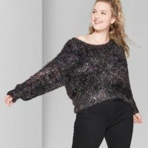Wild Fable Fuzzy Tinsel Sweater